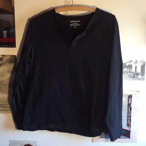 everlane 2-button long sleeve shirt